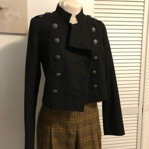 Vintage Naf Naf military crop jacket